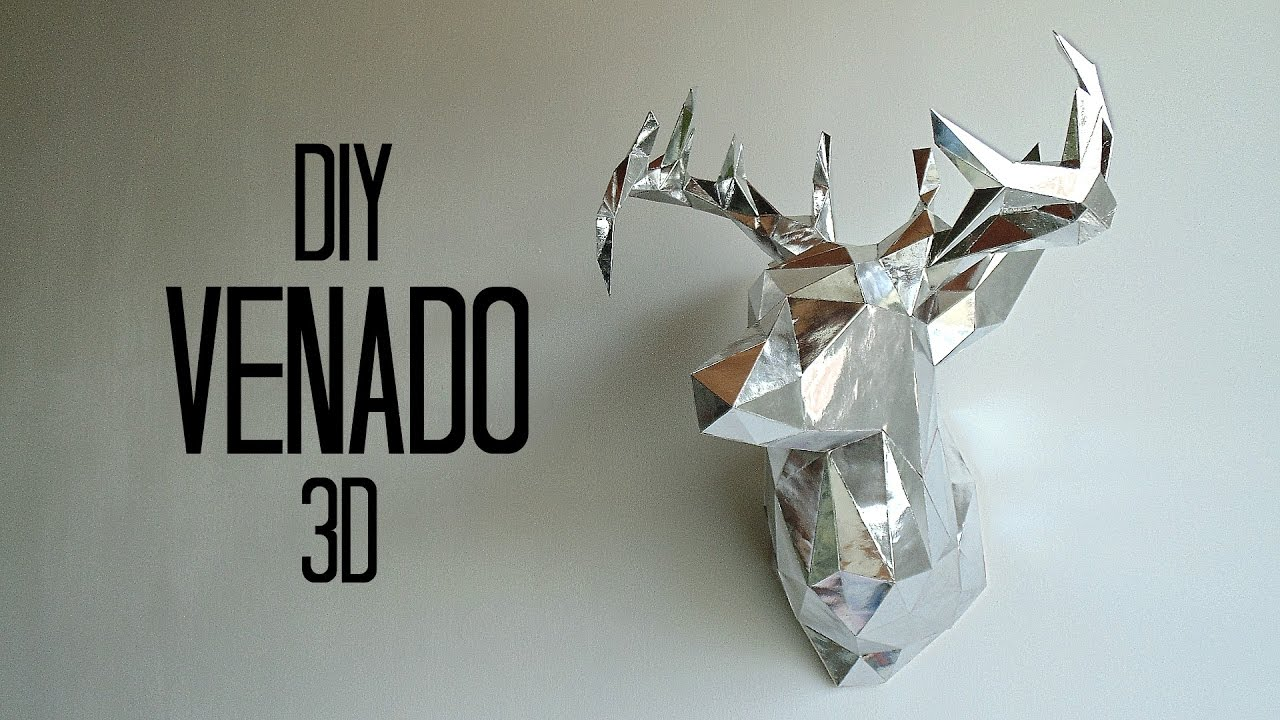 DIY cabeza de venado 3D en cartulina-papercraft - YouTube