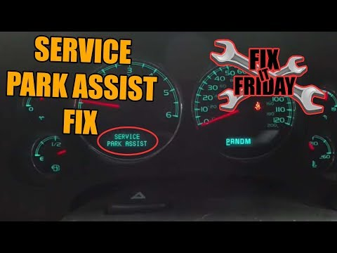 Service Park Assist Warning Message and Parking Sensor Replacement
