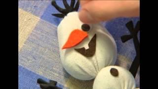 Снеговик из носка Олаф / Snowman Olaf / DIY