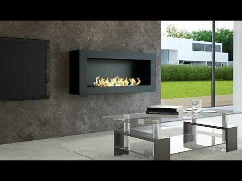 Bio Ethanol Fireplace With Remote Control: Smart, Modern U0026 Design AFIRE  Bioethanol Hearth   YouTube