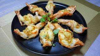 蒜茸牛油煎大蝦