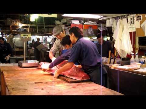 A 7-lb. tuna fillet at the Tsukiji Market, Tokyo