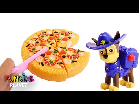 Learning Colors Videos for Kids: Paw Patrol Chase & Skye Cowboys Have Party Eat Pizza and Fruit