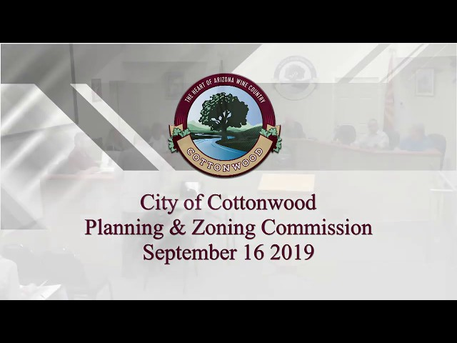 Cottonwood Planning and Zoning Commission September 16 2019