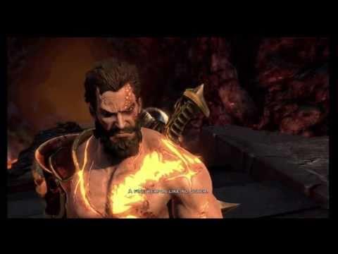 God of War 3 - Deimos murders Hephaestus (HD 720p)