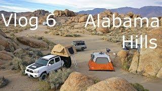TRD Tacoma Camping & Overlanding in Alabama Hills   Norcal Overlanders   Vlog 6