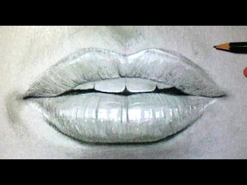 How to draw a mouth and lips time lapse youtube - Bouche en dessin ...