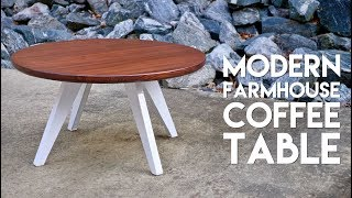 """I built a farmhouse-style modern coffee table using a Southern Yellow Pine 2x12x16 and ⅛"""" steel for the base."""