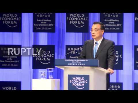 China: 'We should accept and guide globalisation' - Li Keqiang opens WEF in Dalian