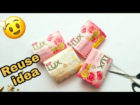 Best out of waste | waste material craft ideas | Lux wrapper craft | soap wrapper craft