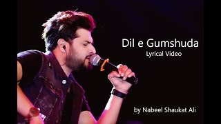 Dil e gumshuda OST | Hai mujh mai tu | Nabeel Shaukat Ali | Lyrical Video