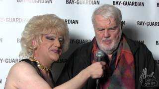 Bruce Brugmann, founder of the SF Bay Guardian, walks the Goldies red carpet