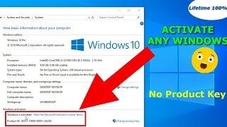 Permanently Activate Windows 10/8/8.1/7 all version for Free (100% working)