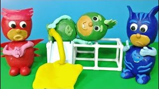 PJ Masks Play-Doh Toilet oopsie in the park English Episode Compilation