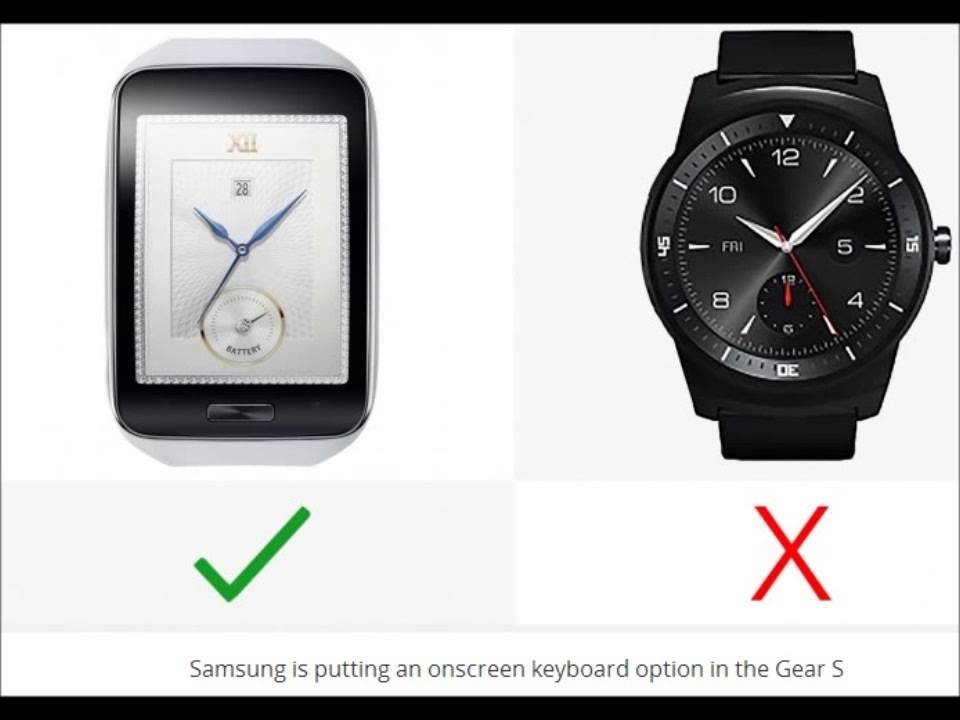 Samsung Gear S vs LG G Watch R !