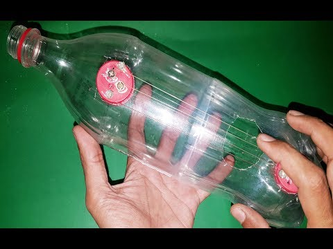 how-to-make-a-plastic-bottles-guitar-at-home- -by-1-trick