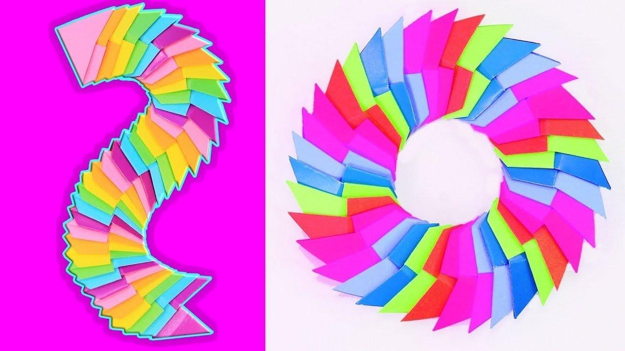 Радужный Антистресс из бумаги своими руками - YouTube