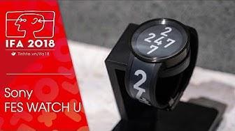 #IFA18: Trên tay đồng hồ Sony FES Watch U: màn hình e-ink ở cả mặt lẫn dây, tùy biến rất cao