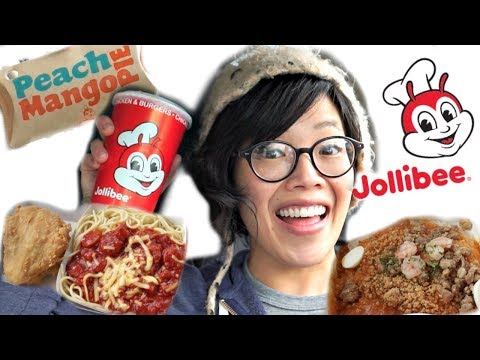 Emmy's FIRST Taste of JOLLIBEE! | Chickenjoy, Spaghetti, Fie