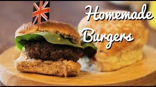 Super Juicy Homemade Burgers Recipe