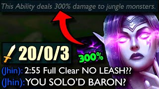 New Morgana Jungle Buffs make her FULL CLEAR in 2:55 (NO LEASH) - You can SOLO BARON now..