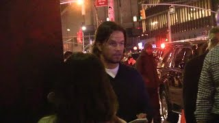 Mark Wahlberg Outside Late Show