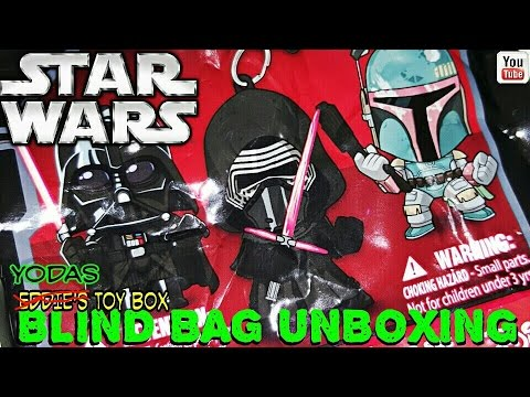 Star Wars The Force Awakens: Mystery Character Bag Clips Unboxing!
