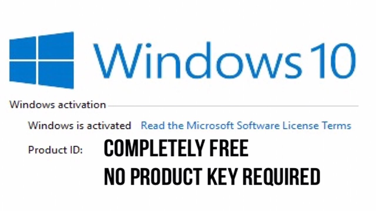 Activate Windows 10 FREE NO PRODUCT KEY! - YouTube