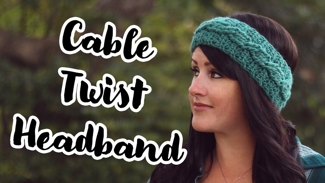 Crochet Pattern   Cable Twist Headband