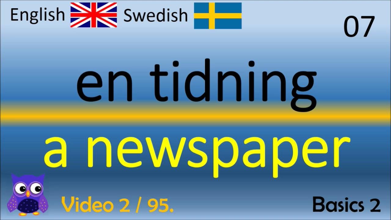 02 Basics (2) Grunderna Svenska - Engelska Ord /Engelska ordet engelska språket ord/Lär dig Engelska