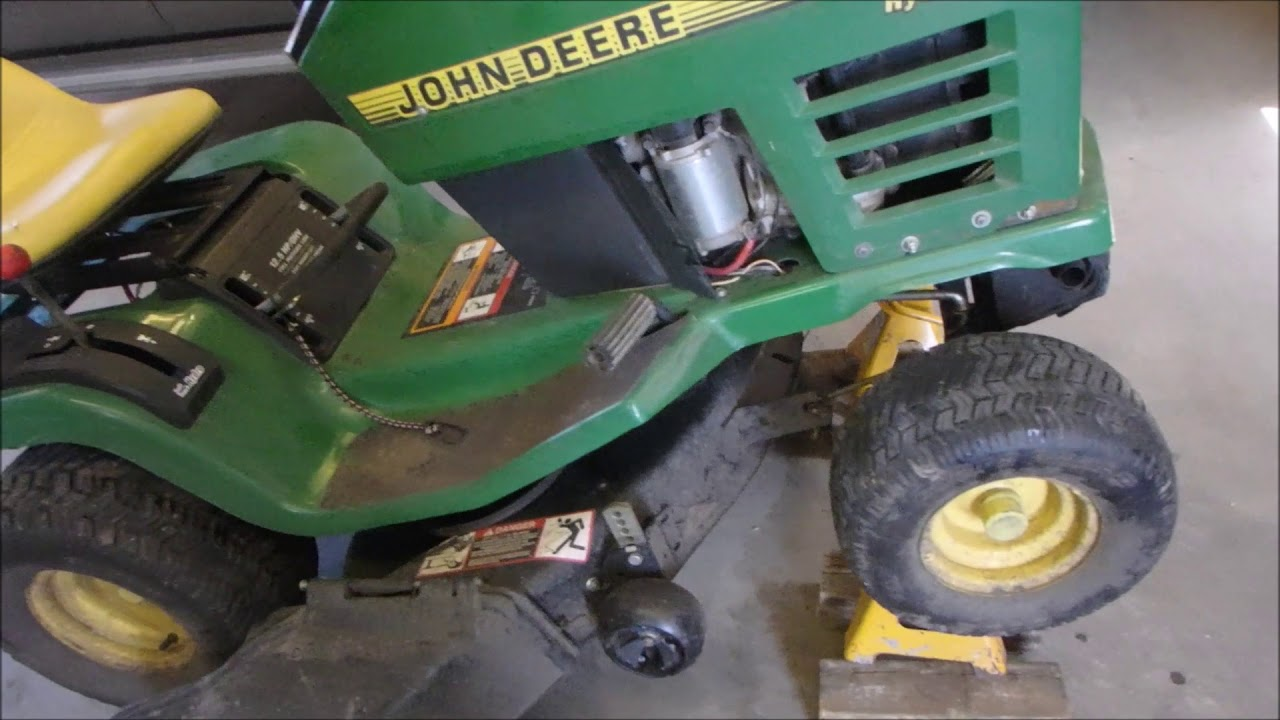 john deere stx38 clutch and switch