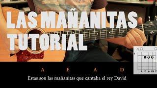 Como tocar Las Mañanitas en Guitarra Acústica ACORDES ( Fácil )