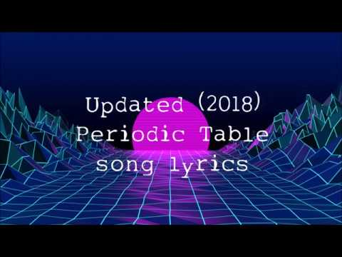 Updated Periodic Table Song lyrics [2018]