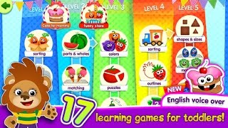 FUNNY FOOD! Learning Games For Toddlers Kids