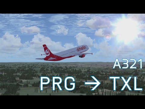 FSX Prague to Berlin | Airbus A321 | Full Flight