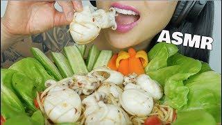 ASMR SPICY PAPAYA SALAD + CUTTLE FISH (EXTREME CRUNCHY EATING SOUNDS) NO TALKING | SAS-ASMR