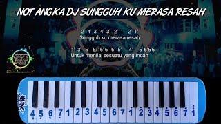 Download lagu NOT PIANIKA DJ SUNGGUH KU MERASA RESAH
