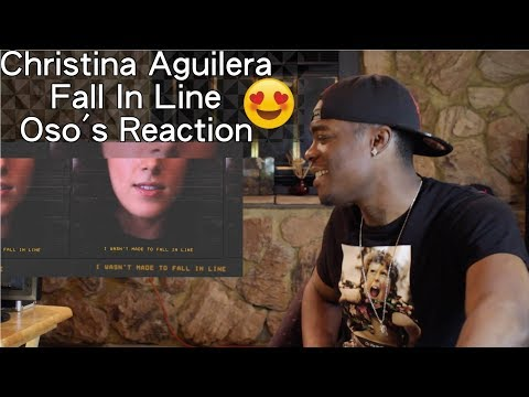 Christina Aguilera - Fall In Line (Lyric Video) ft. Demi Lovato | Oso's Reaction