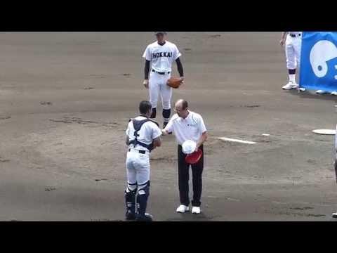 王貞治氏 始球式(第97回全国高等学校野球選手権大会)