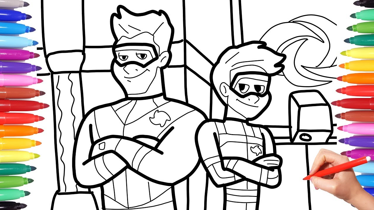 The Adventures Of Kid Danger Kid Danger Captain Man Coloring Pages For Kids How To Draw Youtube