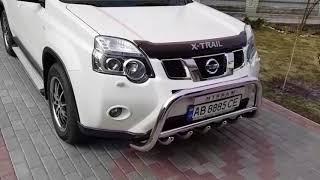 Кенгурятник, защита переднего бампера на Nissan X-Trail