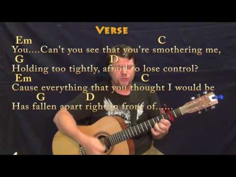Numb (Linkin Park) Guitar Cover Lesson with Chords/Lyrics  - Capo 2nd