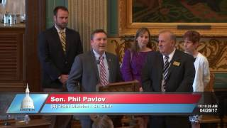 Sen. Pavlov offers a special tribute to Tim Van Wingen
