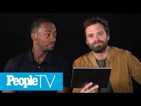 Kids Interview 'Avengers: Infinity War' Stars Sebastian Stan & Anthony Mackie | PeopleTV