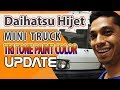 Daihatsu Hijet Mini Truck Tri Tone Paint Color Update