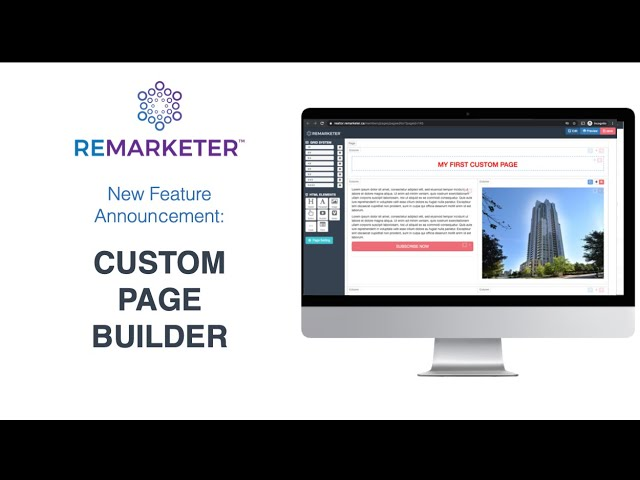REMARKETER Training - Custom Pages