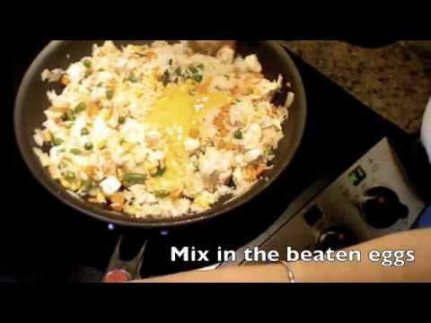 how to make plain fried rice without eggs