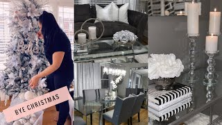 AFTER HOLIDAYS CLEAN & UN-DECORATE WITH ME 2019 || WINTER DECOR IDEAS