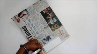 How to make Newspaper Bag for Stationary which can carry 2 kgs of weight