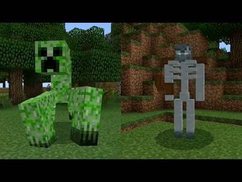 New Mobs in Minecraft Pocket Edition (Mutant Creatures Addon)